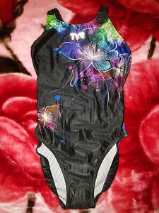 TYR On Style Supreme Racing Bathers Black Flower Splash