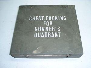 US WW2 Wood Chest Gunner's Quadrant, lot de 10