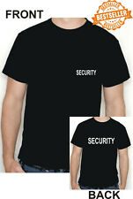 Security T-Shirt/Front + Back Print/Arbeit/Business/Shop/EVP/Größe M
