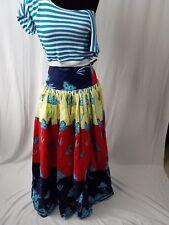 """Womens African Ankara High Waist 35"""" Full Maxi Long Skirt With Pocket Size 12"""