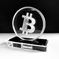 Acrylic Bit coin Logo Art Sculpture Logo LIMITED EDITION only 500!