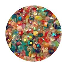 1000 Rhinestones - Crystal Flat Back Resin Nail Art Face Gems Crafts Festival