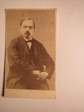 Mann mit Bart & Brille im Anzug -  ca. 1860/70er Jahre / CDV