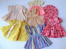 """6 Vintage 1930s Doll Dress Lot fit 10"""" 12"""" 14"""" Composition Girl Factory Clothes"""