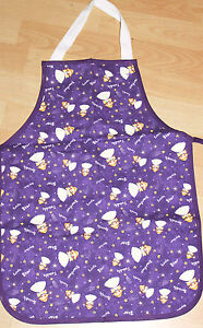 girls fairy / angel Cotton Apron 3 - 5 yr old Made in UK purple