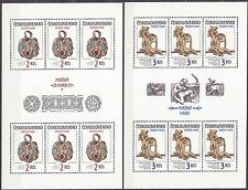 CZECHOSLOVAKIA 1986 **MNH SC#2610/11 Sheets,  Prague Castle