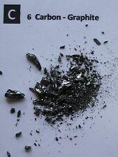 1 gram Carbon graphite pieces 99.9% pure element 6 sample
