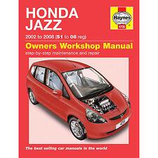 Haynes Manuale Honda Jazz 2002-2008 51 a 58 registrazione