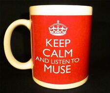 KEEP CALM AND LISTEN TO MUSE GIFT MUG CARRY ON COOL BRITANNIA RETRO