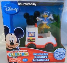 DISNEY MICKEY MOUSE CLUBHOUSE- Save the Day DONALD'S AMBULANCE new