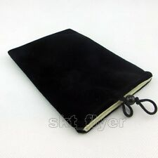 "Black 5 "" Inch Soft Velvet Cloth Bag Case Pouch for iPhone GPS Charge box"