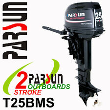 25HP PARSUN Outboard 2-stroke Short Shaft.  2yr FULL FACTORY WARRANTY. Brand New