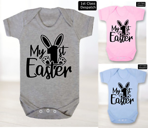 Baby Grow 1st Easter Bunny T-Shirt Kids Childrens Cute Cool Novelty Body Suits