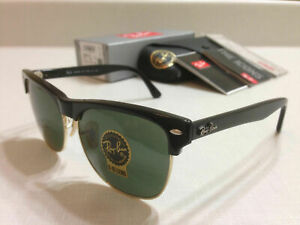 Ray-Ban RB4175 877 CLUBMASTER OVERSIZED BLACK/Classic Green Lens 57 mm.