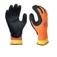 S-2X 12 PR Orange Terry Liner Showa SnowZone Insulated Grey Latex Coat Glove