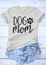 0d9c3718713054 Dog Mom Paw O-Neck T-Shirt Women Funny Graphic tshirt Fashion Clothes t