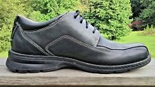 DOCKERS Mens 11M  BLACK LEATHER Casual Dress ProStyle BICYCLE TOE OXFORD Shoes,