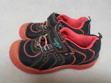 Girls Toddler Size 11 OshKosh B'Gosh Navy and Orange Summer Vacation Beach Shoes