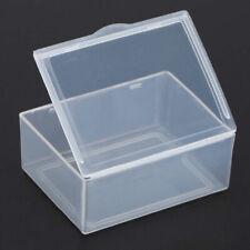 Small Square Clear Transparent Plastic Storage Box Display Boxes Multipurpo K5Z5