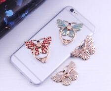 360 Rotating Cell Phone Smartphone Crystal Butterfly Finger Ring Stand Holder