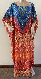 Inoa 100% Silk Maxi Kaftan One Size