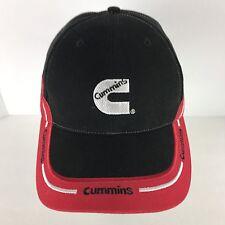 CUMMINS Baseball Cap Hat Black Red Embroidered Strapback
