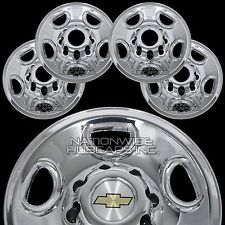 "4 CHROME Express Van 16"" 8 Lug Wheel Skins Hub Caps Rim Simulators Center Covers"