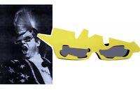 Claude Montana for Alain Mikli Yellow Sunglasses seen on Elton John