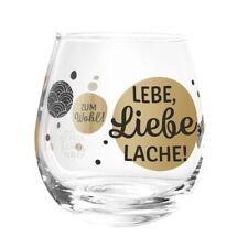 Formano Glas Spruch Lebe Liebe Lache Prosit Wasser Wein Cocktail Gin Whisky