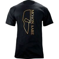 Molon Labe Outlined Spartan Helmet Graphic T-Shirt