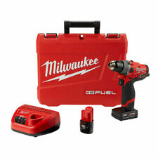 """Milwaukee 2503-22 M12 FUEL 12V Cordless Brushless 1/2"""" Compact Drill Driver Kit"""