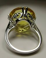 10ct Round *Yellow Citrine* Solid Sterling Silver Filigree Ring {Made To Order}