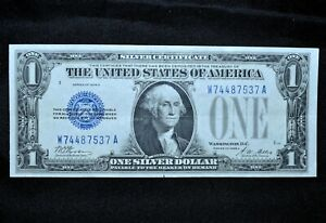 1928-A $1 SILVER CERTIFICATE ✪ AU ALMOST UNCIRCULATED ✪ FUNNYBACK 537 ◢TRUSTED◣