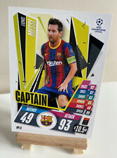 Match Attax Extra 20/21 2020/2021 Lionel Messi Captain Barcelona Base Card CP11