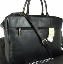 NEW LADIES VISCONTI BLACK LEATHER LAPTOP BRIEFCASE BAG