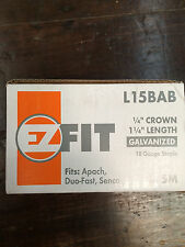 "EZ FIT 18 Gauge, 1/4"" Crown x 1-1/4"" Length Staples"