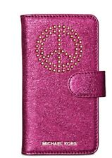 Michael Kors Studded iPhone 7/8 Folio Case Ultra Pink Leather New $85