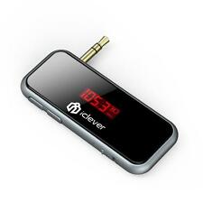 iClever IC-F50 Mini In-Car FM Transmitter Streaming for Car Stereo System MP3/4
