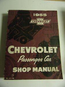 SHOP MANUAL USA MANUEL ATELIER CHEVROLET 1955 en anglais d'époque