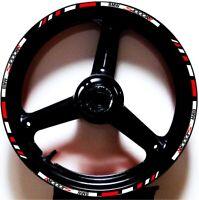 WHITE RED GP STYLE CUSTOM RIM STRIPES WHEEL DECALS TAPE STICKERS BMW S1000RR