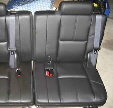 07-14 Chevy GMC Tahoe Suburban Yukon LEFT SIDE Black Leather 3rd Row Seats LH 08