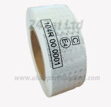 EC 104 -R WHITE/SILVER CONSPICUITY REFLECTIVE TAPE 50mm x 10METERS