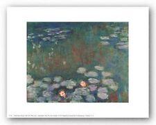 FLORAL ART PRINT Water Lilies Claude Monet 10x8