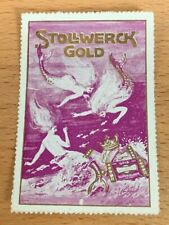 POSTER STAMP VIGNETTES GERMANY STOLLWERK GOLD CHOCOLADE WITH MERMAID from 1913