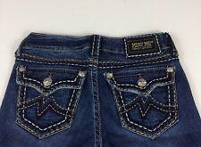 MISS ME Womens Distressed Thick Stitch Flap Pocket Irene Boot Jean Size 26  J202