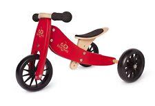 Kinderfeets Tiny Tot Trike 2 in 1 Balance Bike Cherry Red -