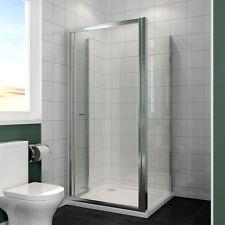 Walk in Bathroom Bifold Shower Enclosure Door 5mm Glass Screen Cubicle + Tray