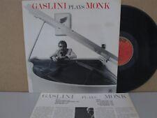 Giorgio Gaslini – Gaslini Plays Thelonious Monk LP Jazz Piano SN1020 Vinyl EX+