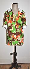 Vintage 60's DAVID JONES Vibrant Print Blouse