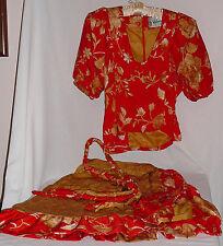 Two piece dressy silk outfit, vintage, custom made by Valentino, Sedona Arizona